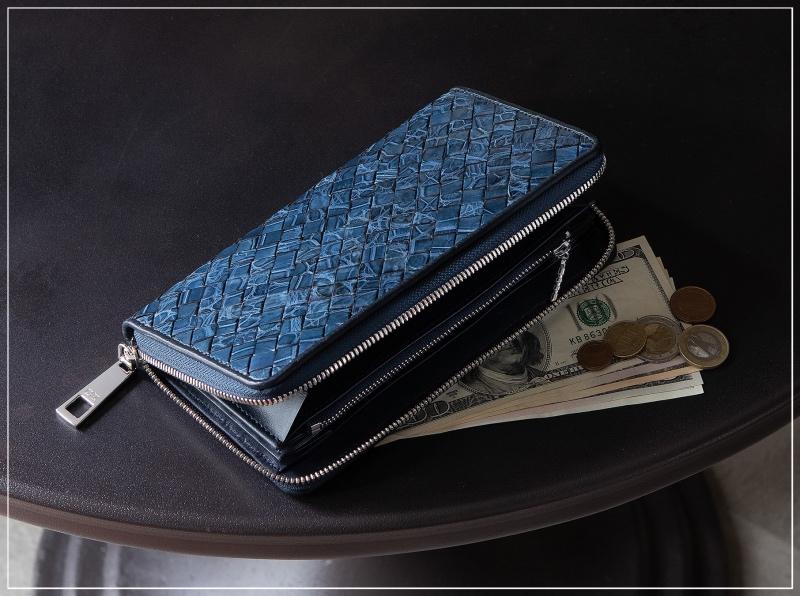 LE'SAC(レザック)ポロサスラウンドジップ長財布