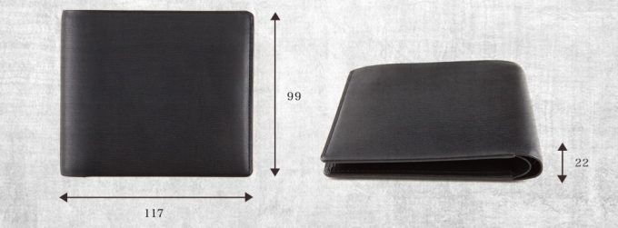 厚さ2,2cmの薄い財布