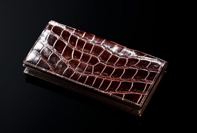 本物のクロコダイル革財布(ココマイスター製)