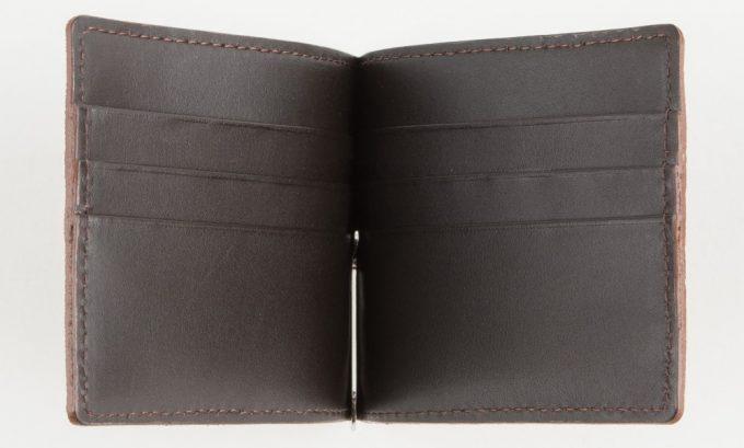 レザック(LE'SAC)エレファントマネークリップのカードポケット付きの内装