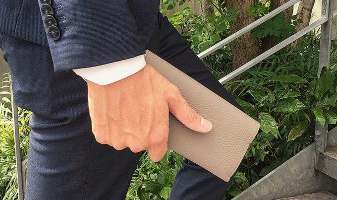 綺麗な状態を続けるアドリアレザー長財布