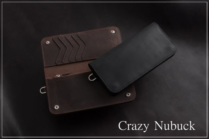 クレイジーヌバックシリーズの革財布と革製品