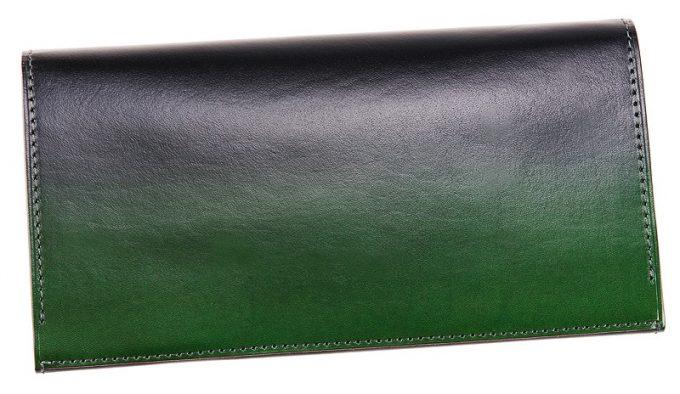 キプリスの漆塗りの革財布