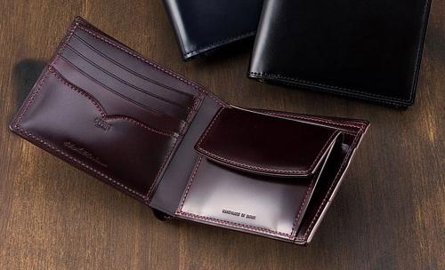 キプリスオイルシェルコードバンアンフィニの財布
