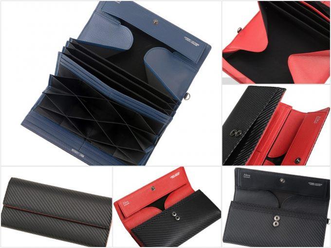 ノイインテレッセ(Neu interesse)・ギャルソンハニーセル長財布ファイバーキュアウォレットツイルドカーボンの写真