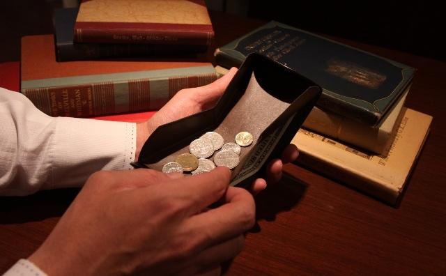 小銭が取りやすいハンモックウォレット