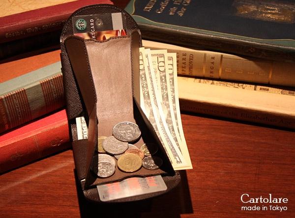 お札、小銭、カードが沢山入るハンモックウォレット