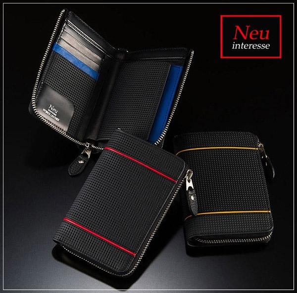 Neuinteresse(ノイインテレッセ)縦型二つ折り財布L字ラウンドファスナー札入れ・レンクラッド