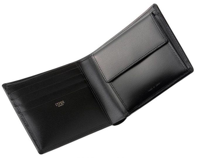 キプリスのボックスカーフポトフィールの革財布