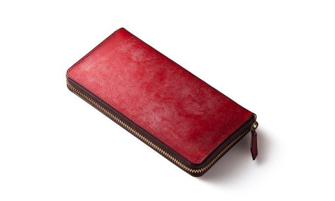 COCOMEISTER(ココマイスター)ブライドルシリーズの財布(スイスレッド)