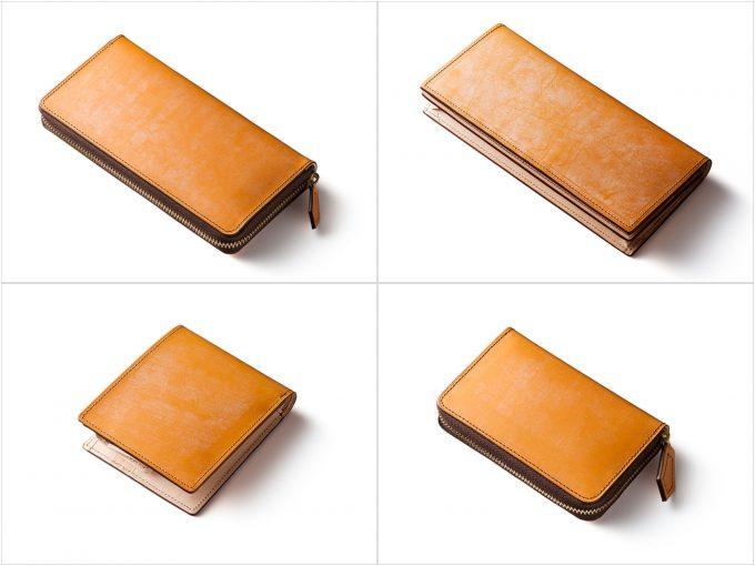 ブライドルレザーシリーズの財布の写真(抜粋)