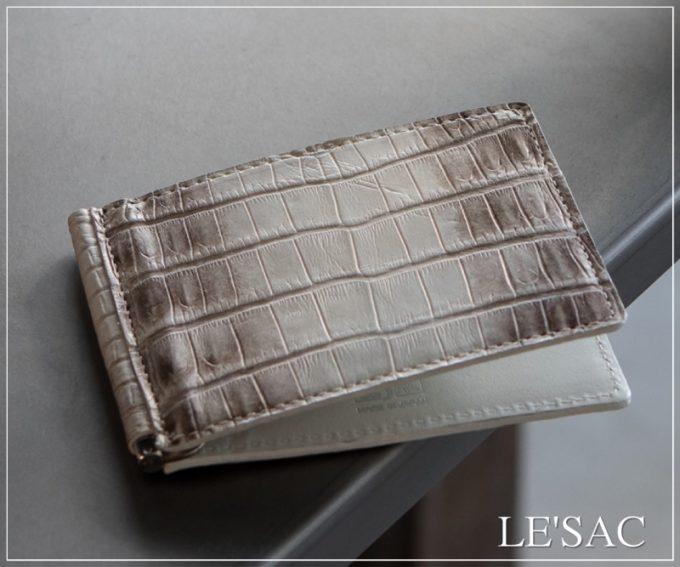 レザック(LE'SAC)のクロコダイルマネークリップ