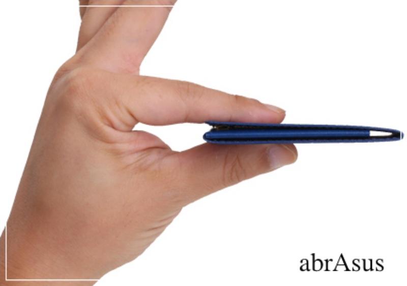 アブラサス(abrAsus)の薄いマネークリップの各部位