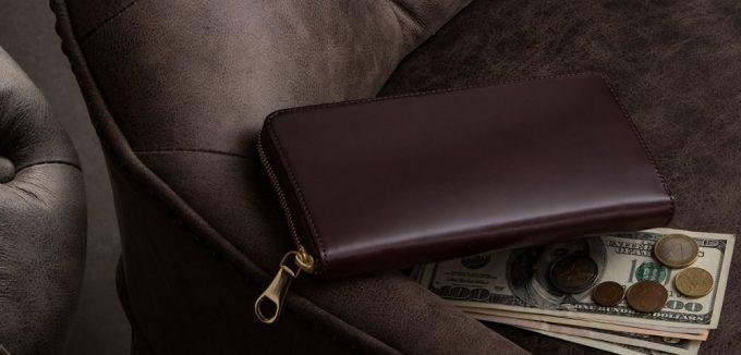 CIMABUEgraceful(チマブエグレースフル)コードバンシリーズの財布(Wine)