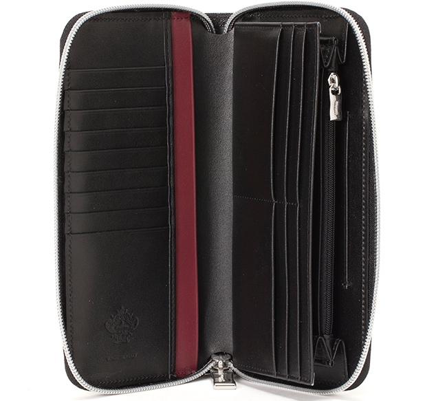 ラウンドジップ長財布INDOTTO-F01のカードポケットとフリーポケット