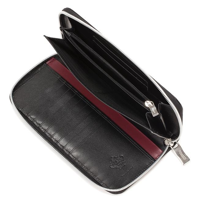左右非対称のラウンドジップ長財布INDOTTO-F01