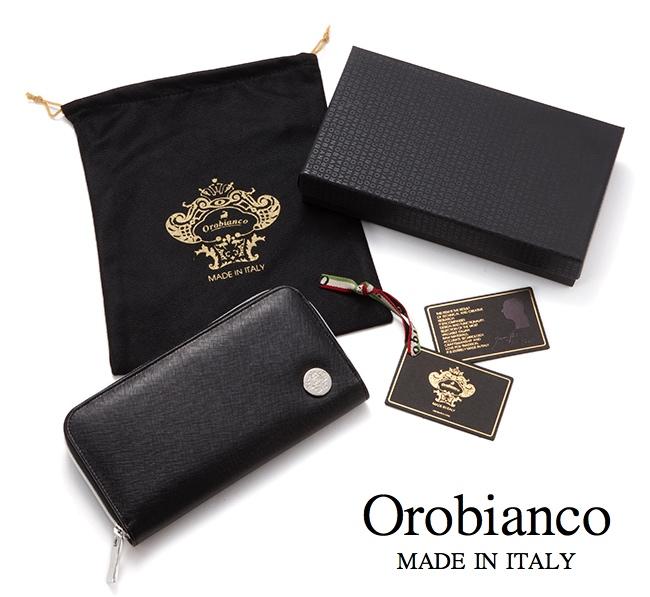 オロビアンコ(Orobianco)サフィアーノレザーラウンドジップ長財布