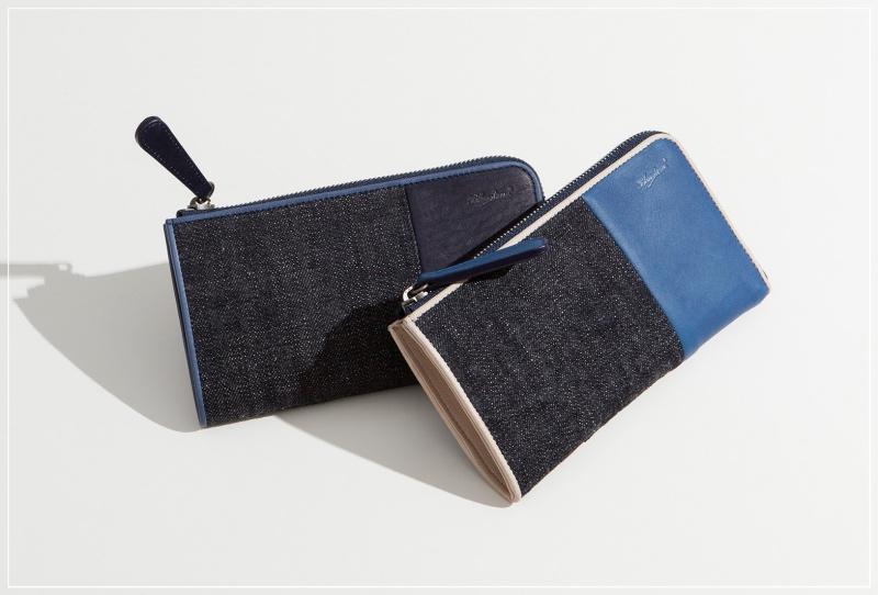 ブルーストーン・SUKUMOLeather(スクモレザー)(藍色)の財布