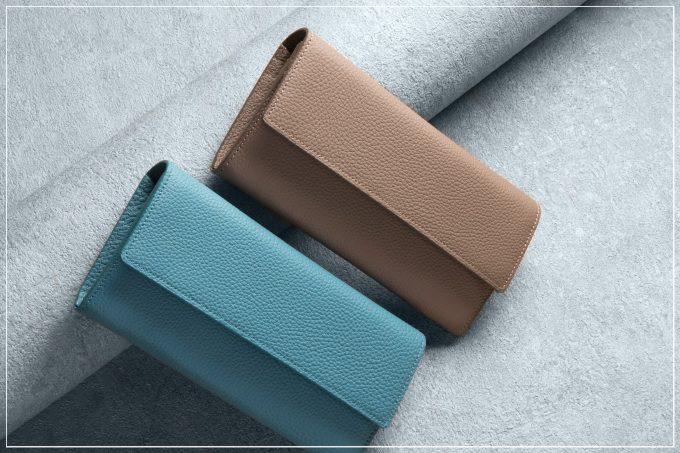 チマブエグレースフルのシュランケンカーフ(ブルー)の財布