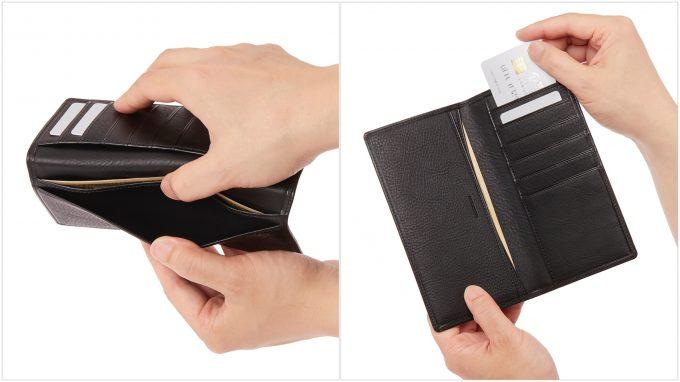 札入れポケットとカードポケット