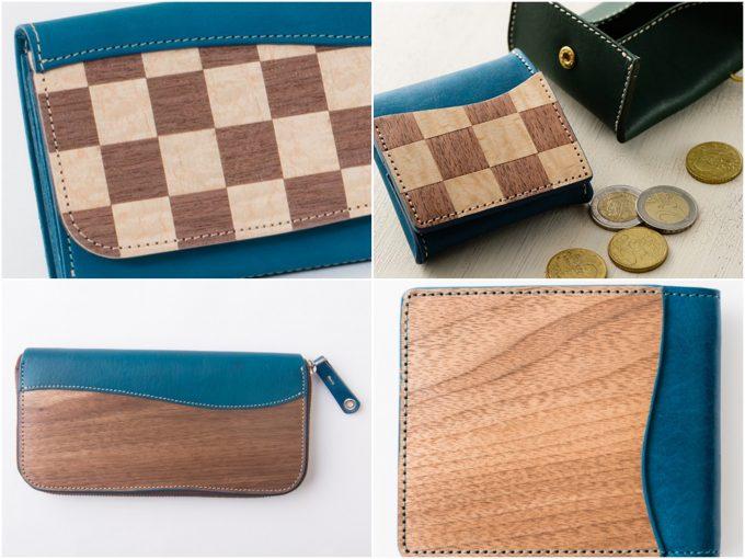 ヴァーコのREAL WOOD ICHIの財布(ブルー)の写真