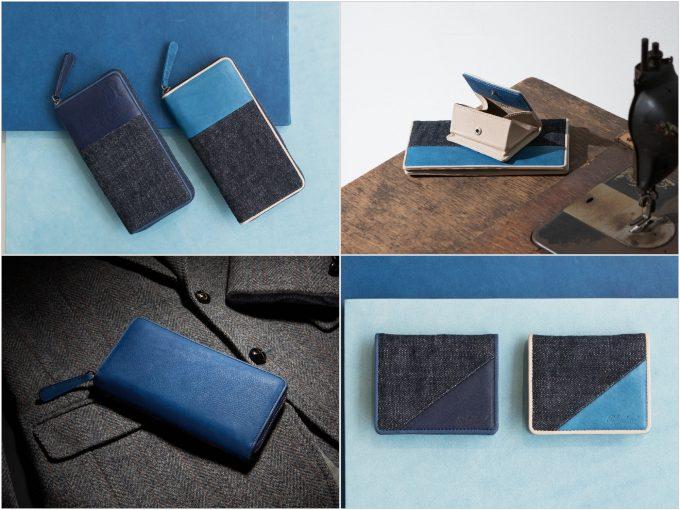 ブルーストーンのSUKUMOLeather(スクモレザー)(藍色)の財布の写真