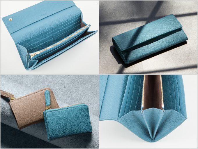 チマブエグレースフルのシュランケンカーフ(ブルー)の財布の写真