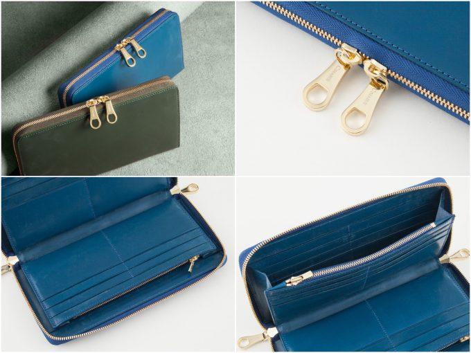 チマブエグレースフルのブライドルトラベルラウンドジップ長財布(ブルー)の写真