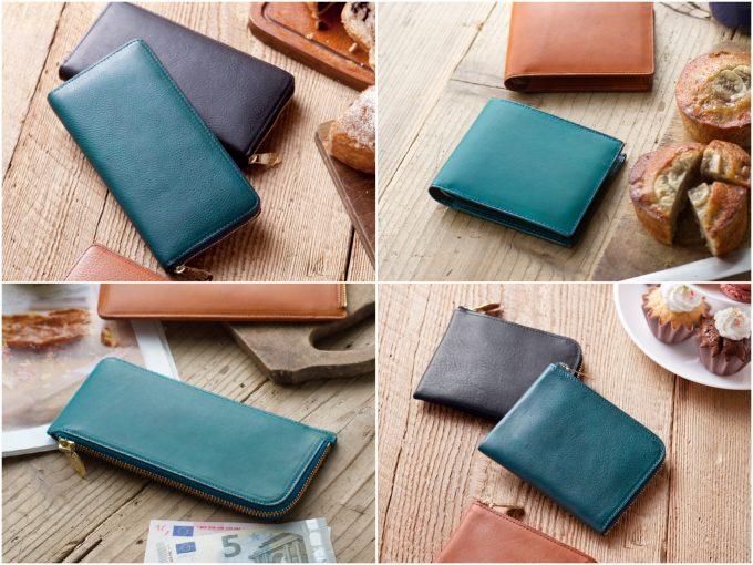 アヤメアンティーコの財布(青)の写真