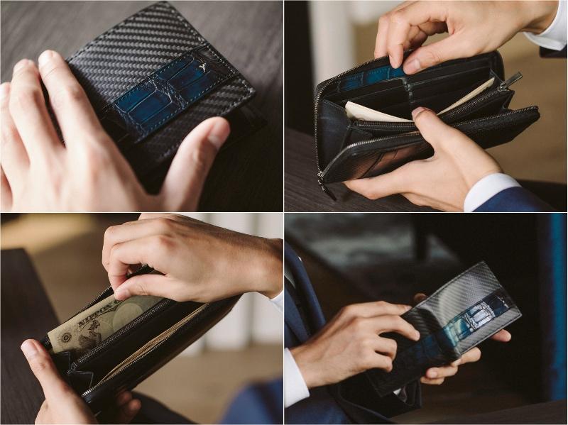 Al contrario(アルコントラリオ)シリーズの長財布と二つ折り財布
