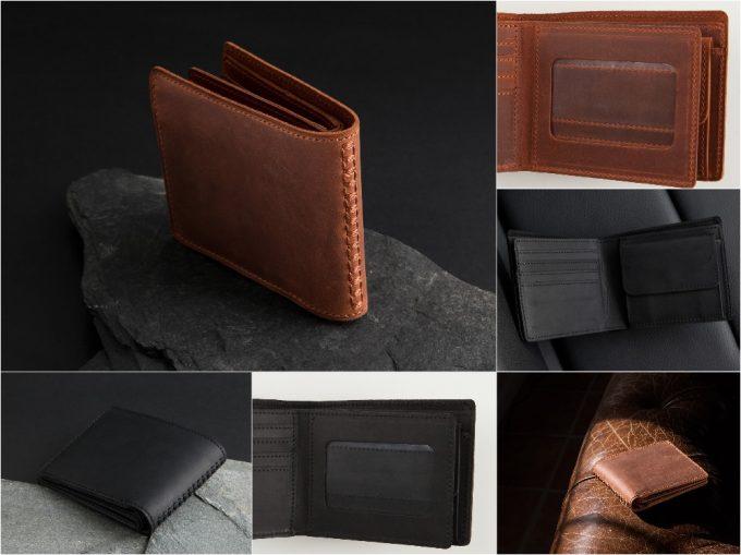 クレイジーヌバック二つ折り財布(二宮五郎商店)