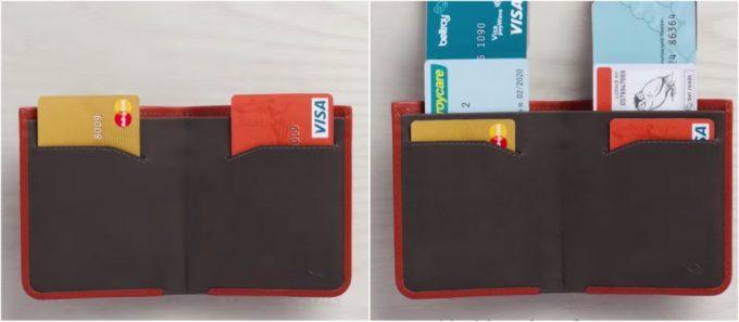 使用頻度の高いカードと低いカードを分けて収納