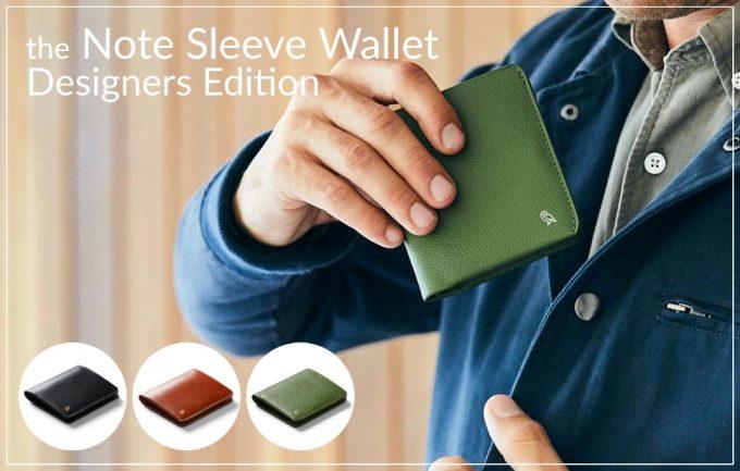 ベルロイ(Bellroy)ノートスリーブウォレットデザイナーズエディション(Note Sleeve Wallet DE)