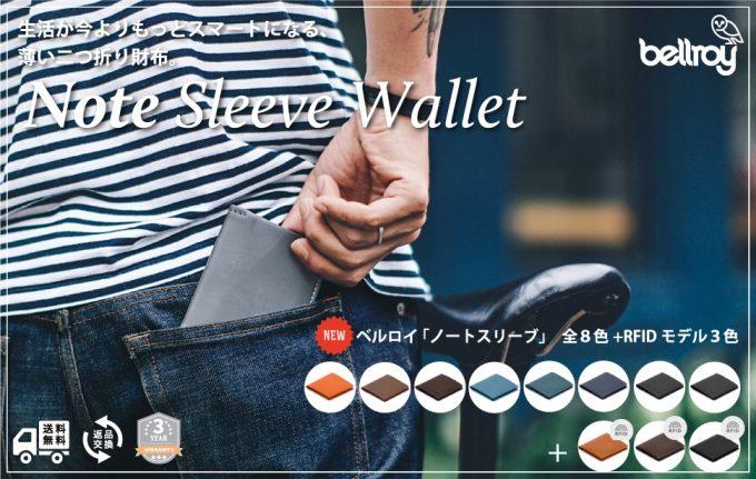 ノートスリーブウォレット(Note Sleeve Wallet)