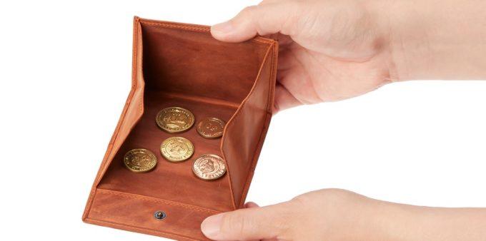 アレッジドコインケースの大開口の小銭入れ