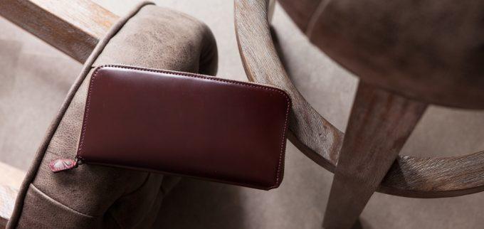素材と作りとデザインにこだわったペッペルコルムコードバン長財布