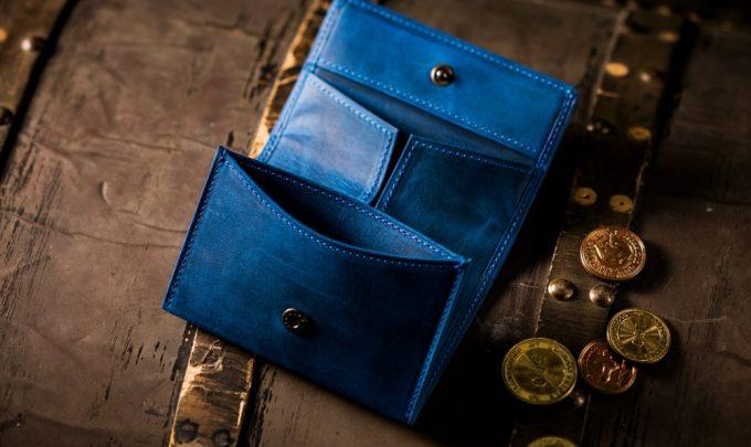 ナポレオンカーフの小銭入れアレッジドコインケース