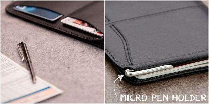 マイクロペンとペンのポケット