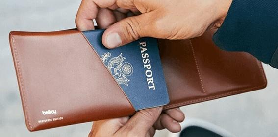 トラベルウォレットのパスポートポケット