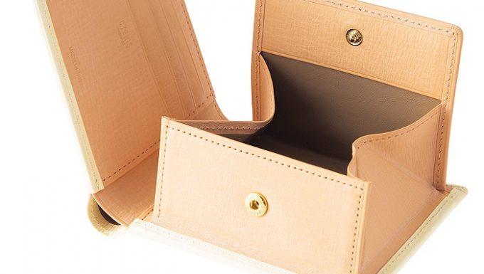 ボックス型小銭入れ二つ折り財布