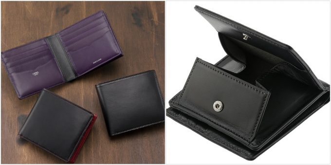 CYPRIS(モルフォ展開ブランド)コルデーロ二つ折り財布外ボックス小銭入れ付き札入