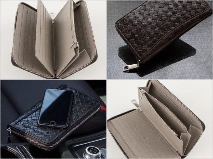 ポロサスラウンドジップ長財布の外装と内装