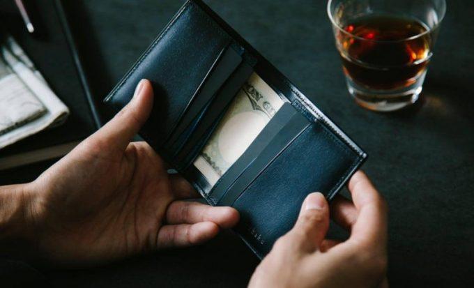 YEV122薄型二つ折り財布(yuhaku)