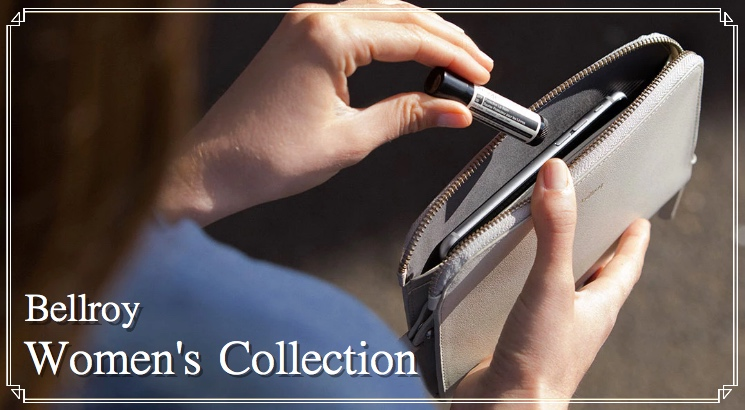 ベルロイ(Bellroy)のレディース財布紹介!iPhoneも化粧品も入る!