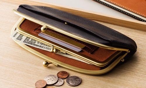 収納力が高いオイルシュリンクレザー口金財布