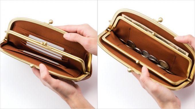 オイルシュリンクレザー口金財布の内装と収納