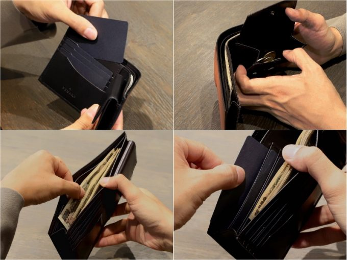 YHK003二つ折り財布の各部