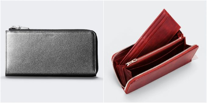 aniaryの財布の外装と内装