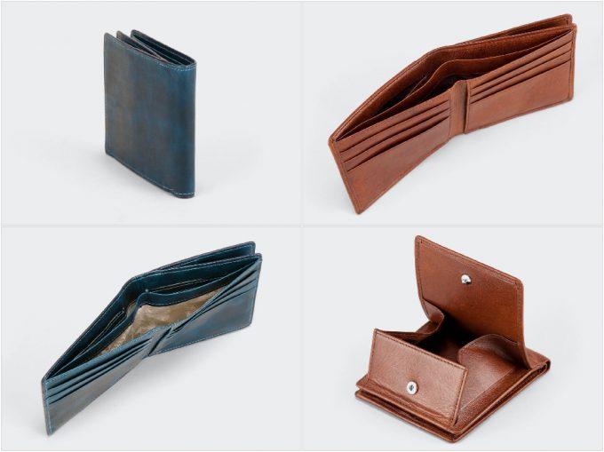 アニアリの二つ折り財布の収納ポケット