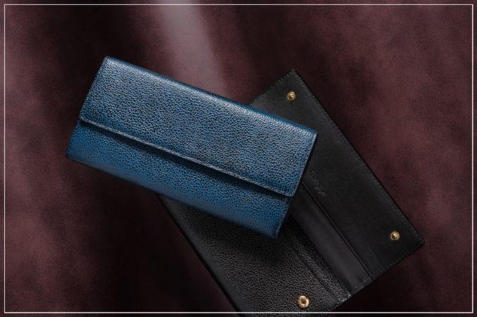 漆塗りかぶせ長財布(チマブエグレースフル)